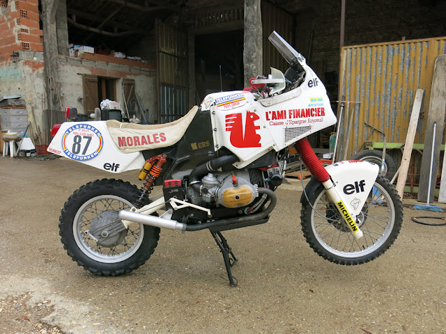 Écureuil BMW R100GS Paris Dakar rally bike, 1987