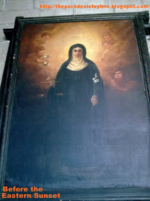 Painting of a nun saint at San Agustin Museum