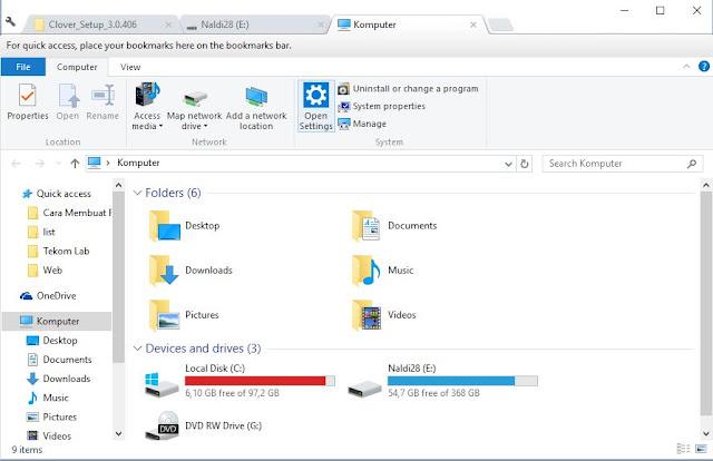 cara membuat file explorer menjadi multi tab