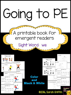 https://www.teacherspayteachers.com/Product/Sight-Word-Reader-Going-to-PE-ColorBW-2440020