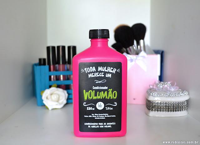 Shampoo e condicionador VOLUMÃO da Lola Cosmetics