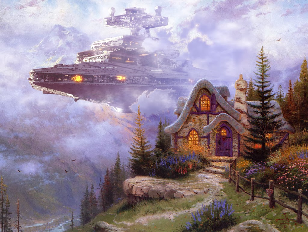 03-Jeff-Bennett-Thomas-Kinkade-Star-Wars-on-Kinkade-Paintings-www-designstack-co