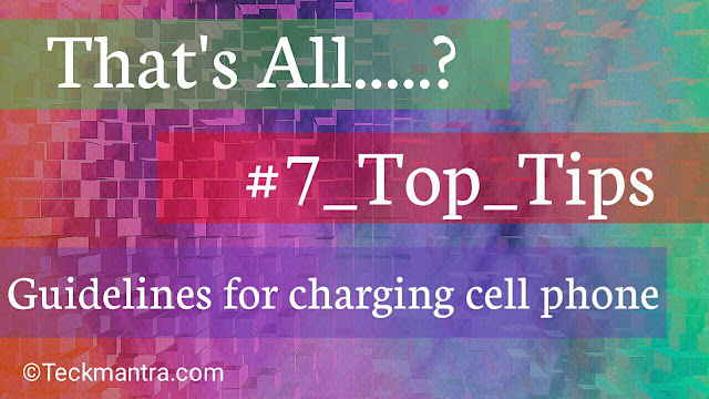 That's All about charging cell phone