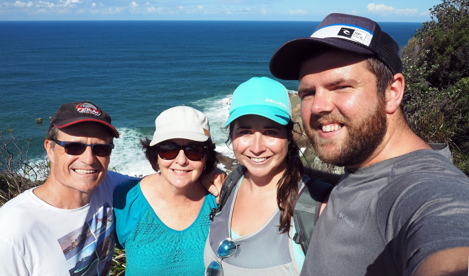 Family on Diamond Head Loop Walk