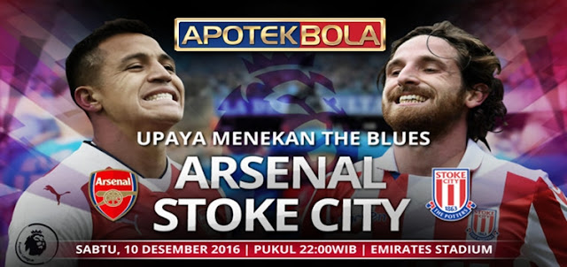 Prediksi Pertandingan Arsenal vs Stoke City 10 Desember 2016