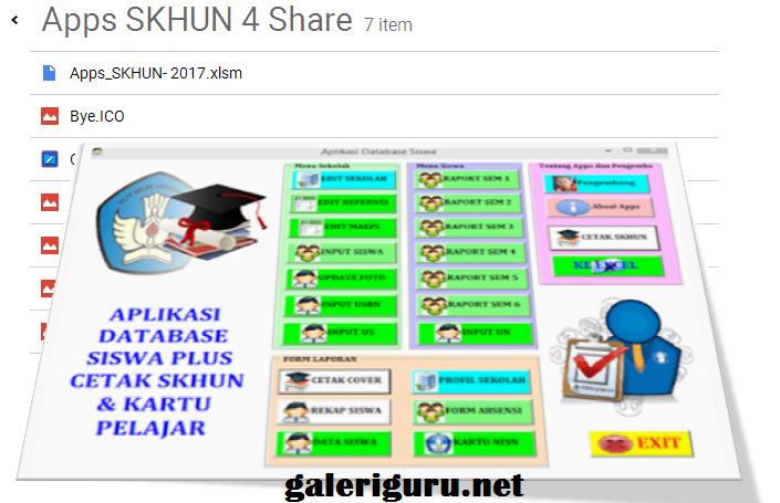 Download Aplikasi Cetak SKHUN Terbaru Tahun Ajaran 2016/2017 | Galeri Guru