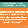 Rahasia Membuat Artikel Yang Menghasilkan Uang