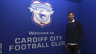 Emiliano Sala was presented as a Cardiff City signing days before the crash
