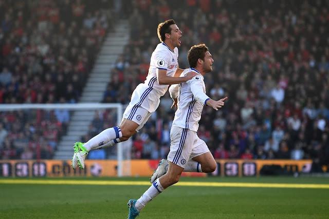 Marcus Alonso Chelsea FC Celebrates
