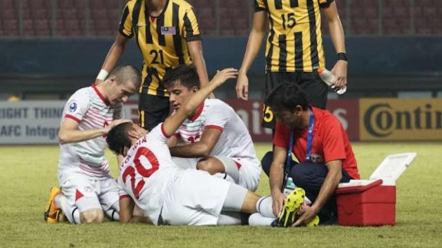 Patah Kaki Mengerikan Pemain Piala Asia U-19 di Stadion Patriot