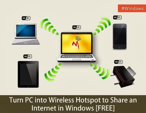Turn PC into wireless hotspot to share an Internet in Windows [FREE] - problogbooster
