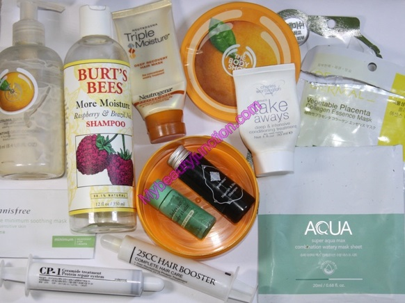 Beauty products emptied in June 2014 and quick reviews