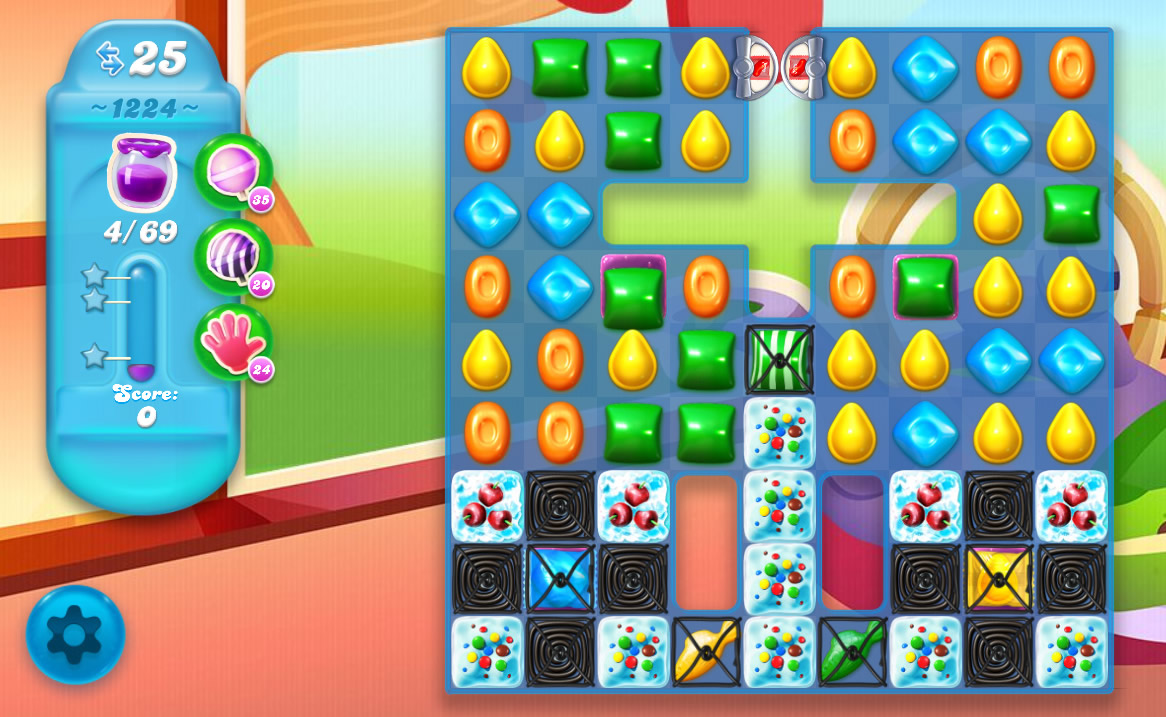 Candy Crush Soda Saga level 1224