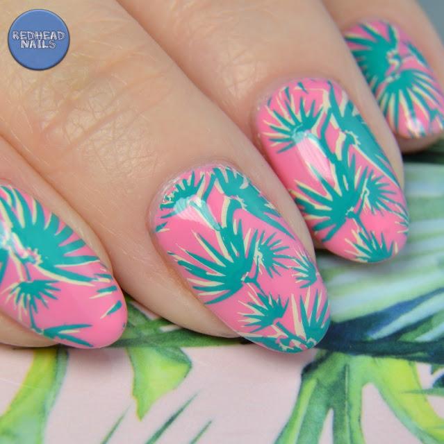 Born Pretty Store BP-L047 plate tropical mani