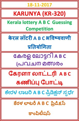 A B C Guessing Compatition KARUNYA KR-320