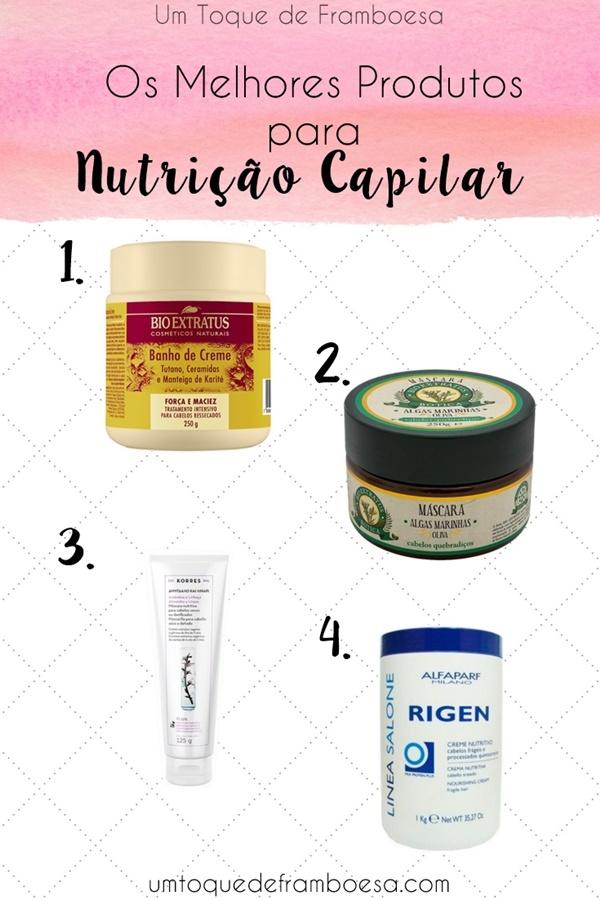 Os melhores produtos para nutrição capilar