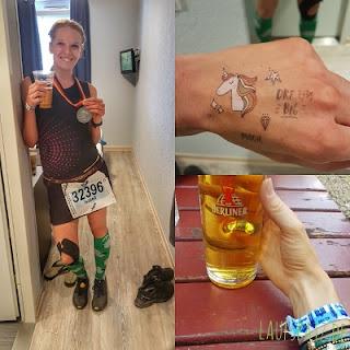 Berlin Marathon 2018 PB Bier Einhörner