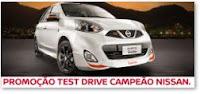 Promoção Test Drive Campeão Nissan www.testdrivecampeaonissan.com.br