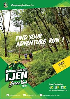 Banyuwangi Ijen Green Run 3 Desember 2016.