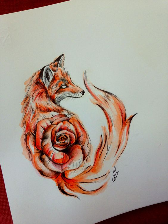 20 stunning fox tattoos for women men pop tattoo. Black Bedroom Furniture Sets. Home Design Ideas