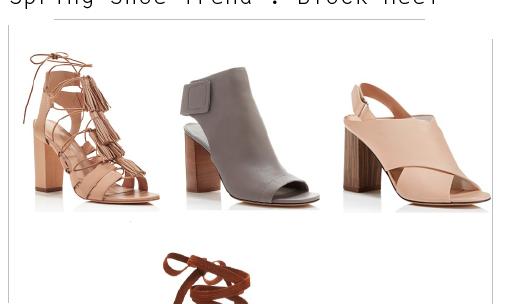 Spring Style : Block Heels
