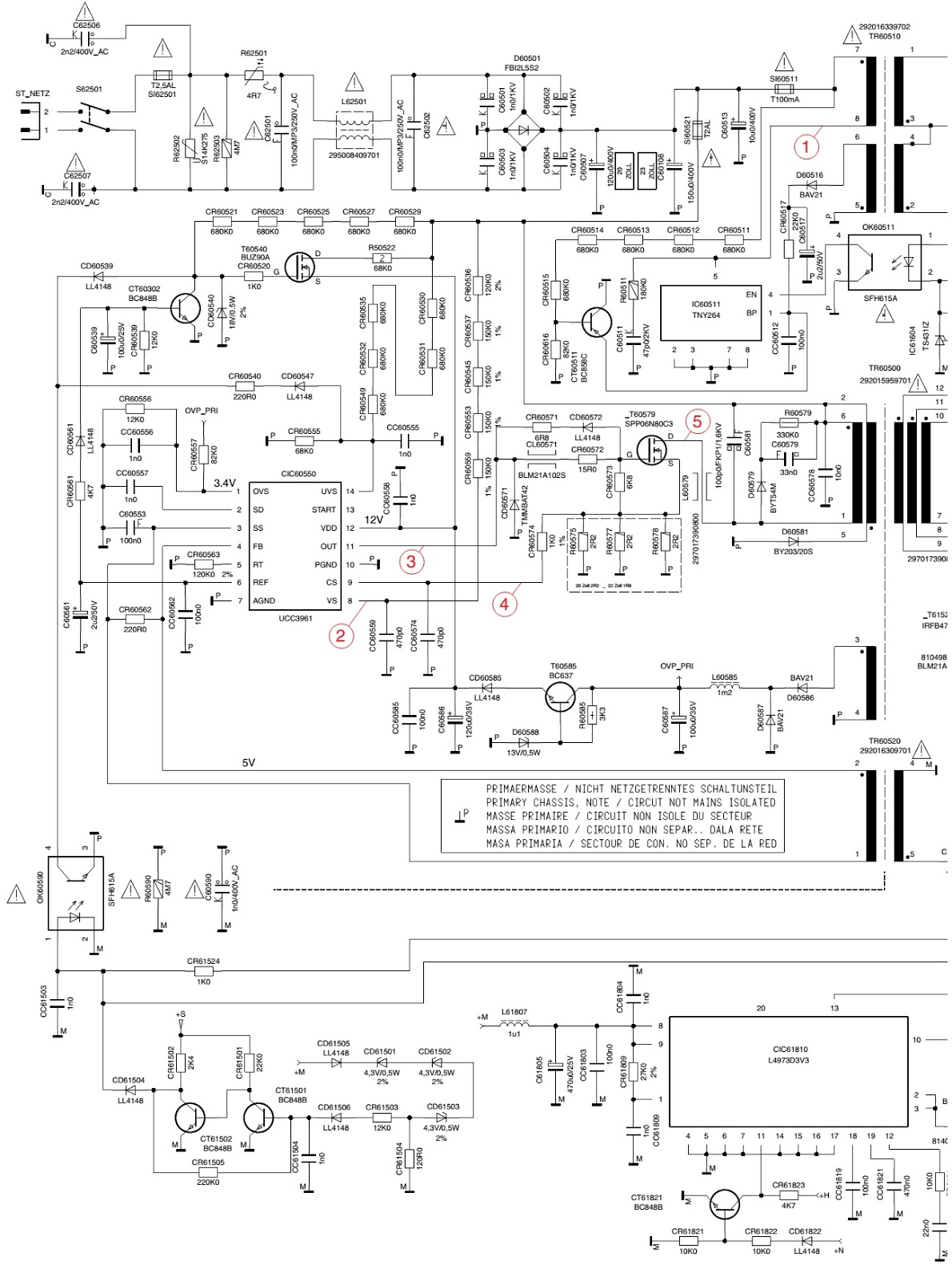 electro help  grundig tharus lcd tv - how to enter service mode - smps schematic