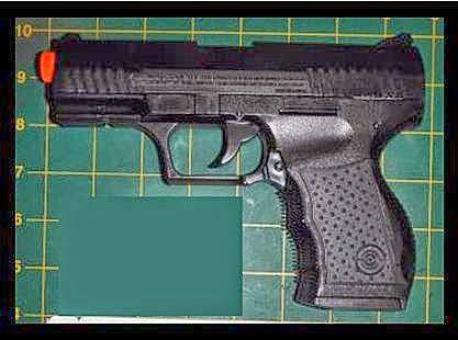 discovered airsoft gun