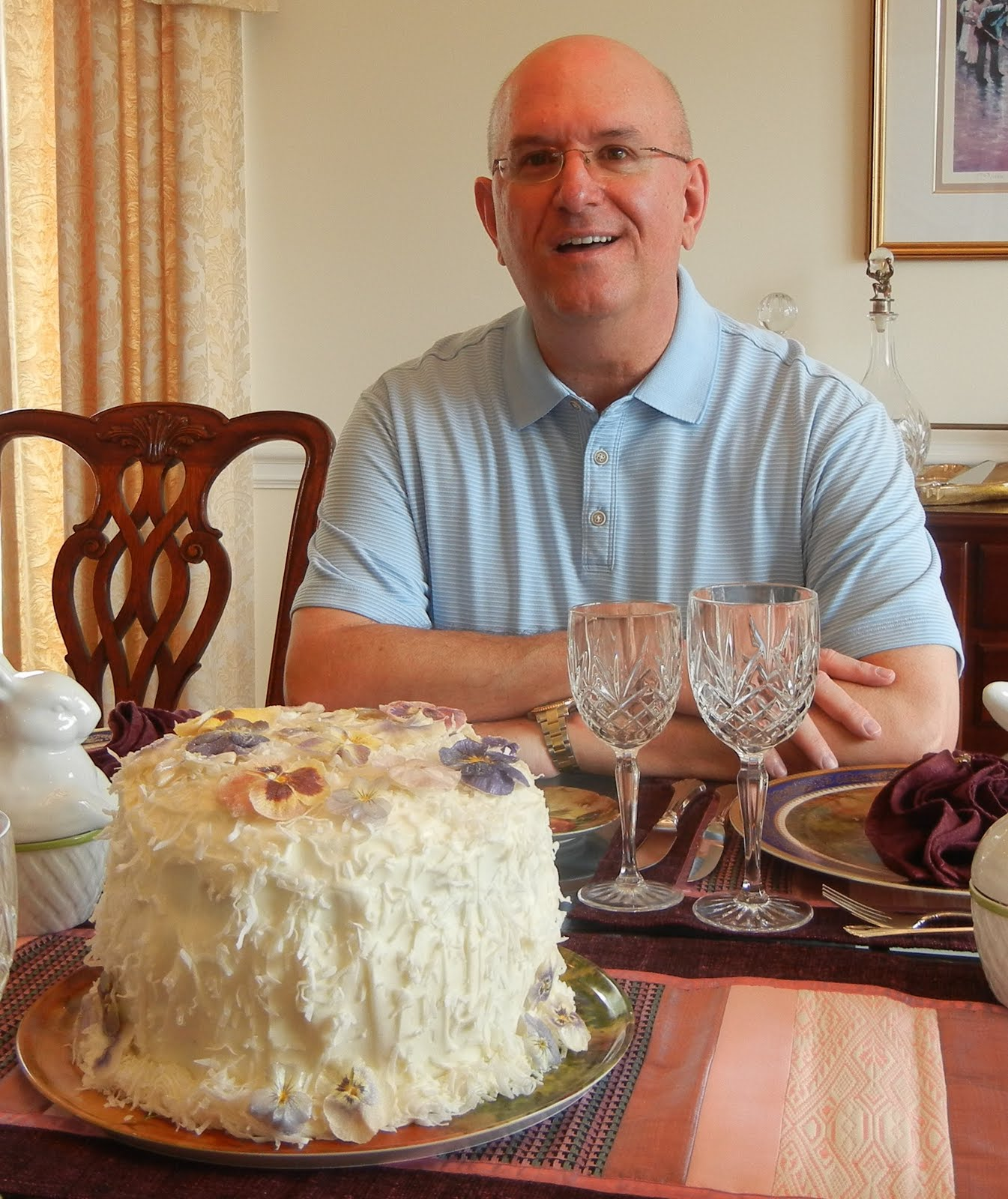 Cooking With Julian Coconut Cake With Candied Pansies