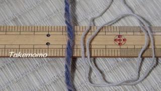 パトラアルパカ段染めの糸と割糸の比較