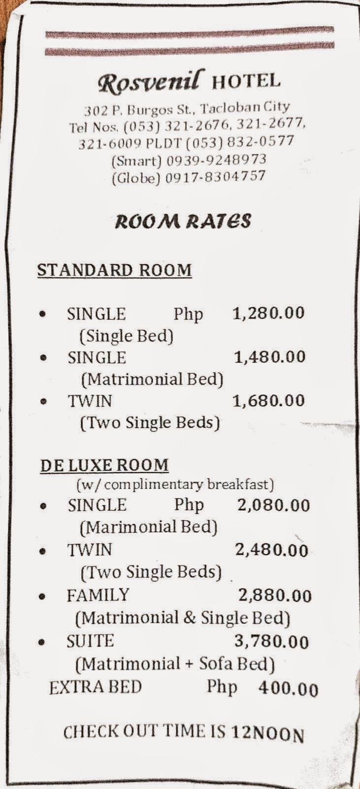 The Budget Traveller Philippines Room Rates Rosvenil