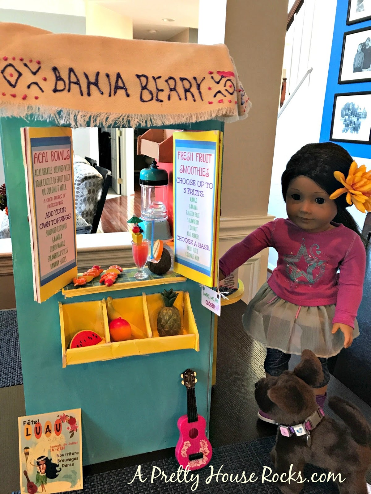 Diy american girl doll lea clarks fruit stand big gifts on a yes its an american girl doll fruit stand but can you believe that i actually built this myselfwith foam board no big bucks spent on this item solutioingenieria Images