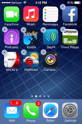 كيفية حذف التطبيقات فى iPhone X من الشاشة الرئيسية