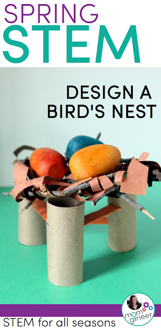 Spring STEM Challenge - Design and create a bird nest using recyclable or found materials in nature. STEM for all seasons. #stemeducation | Meredith Anderson - Momgineer