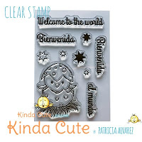 Little bird new baby clear stamp set