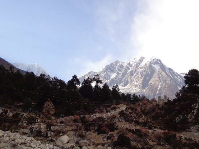 Manaslu trekking. Photos is after Shyla village and Before Samagaon