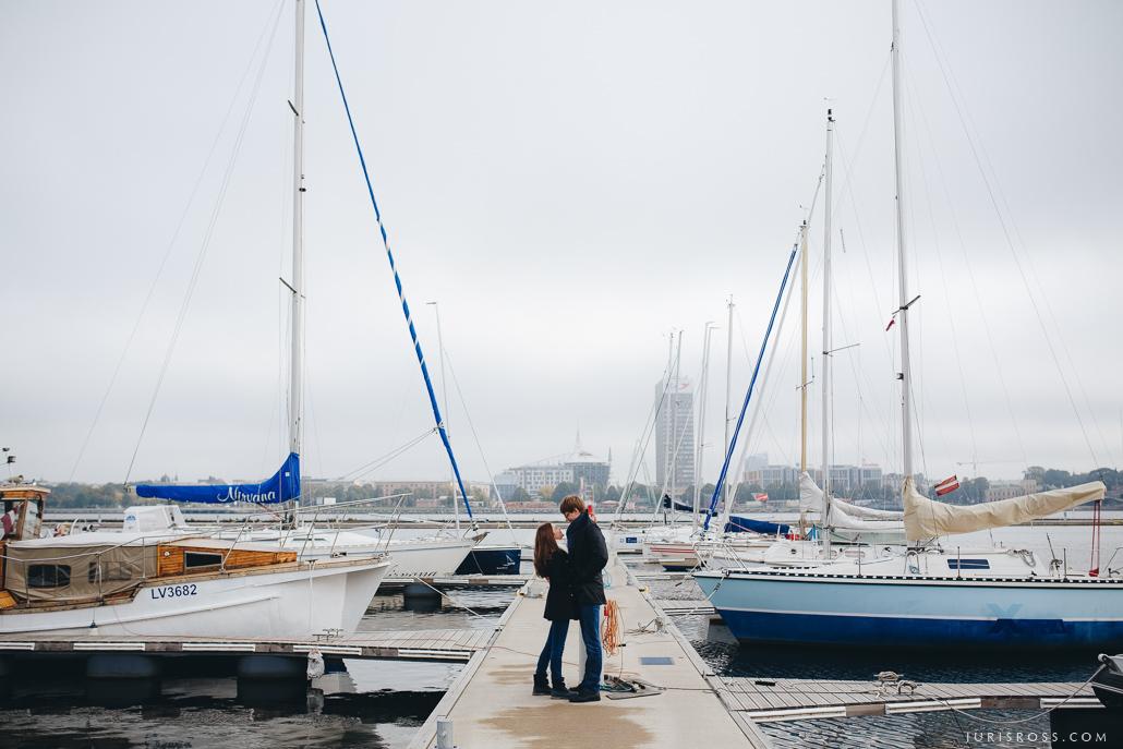 Rīgas osta ķīpsala jahtas rudens