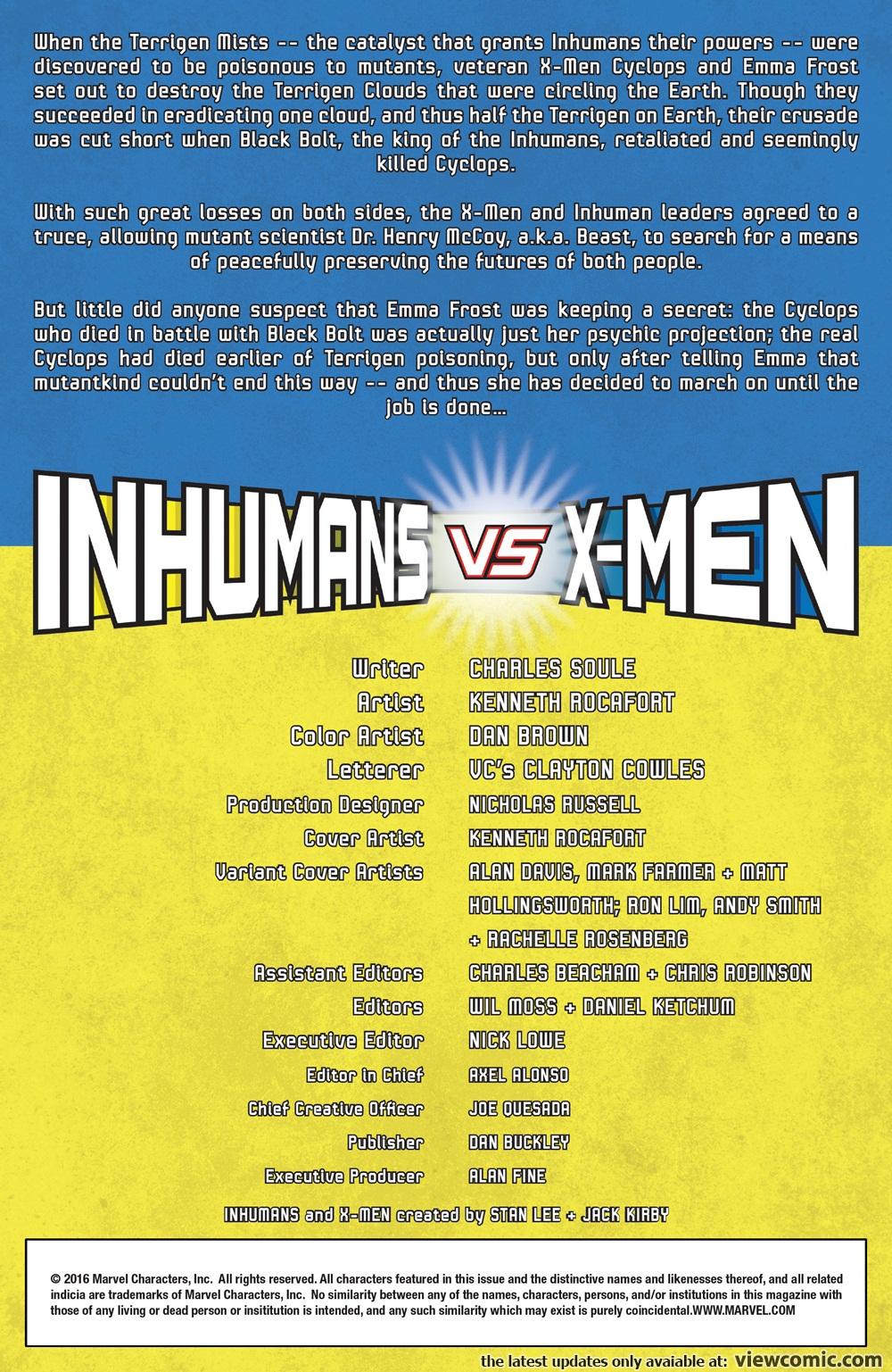 Inhumans vs. X-Men 000 (2017) | Vietcomic.net reading comics online for free