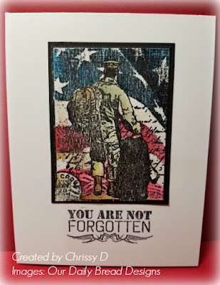 ODBD Not Forgotten, Card Created by Chris Dickinson aka Chrissy D