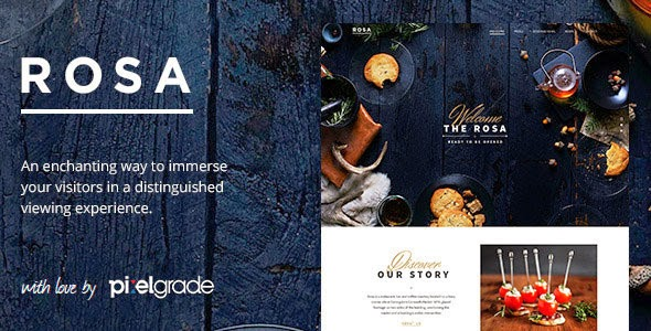ROSA v1.4.5 An Exquisite Restaurant WordPress Theme