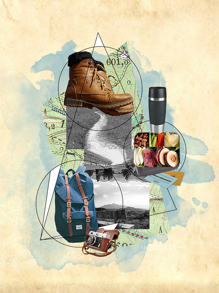 Wanderlust Collage, Illustration