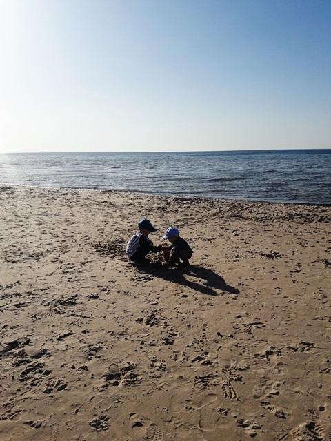 zabawa na plaży, Poddąbie