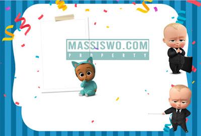 Background kartu undangan ulang tahun untuk anak cowok