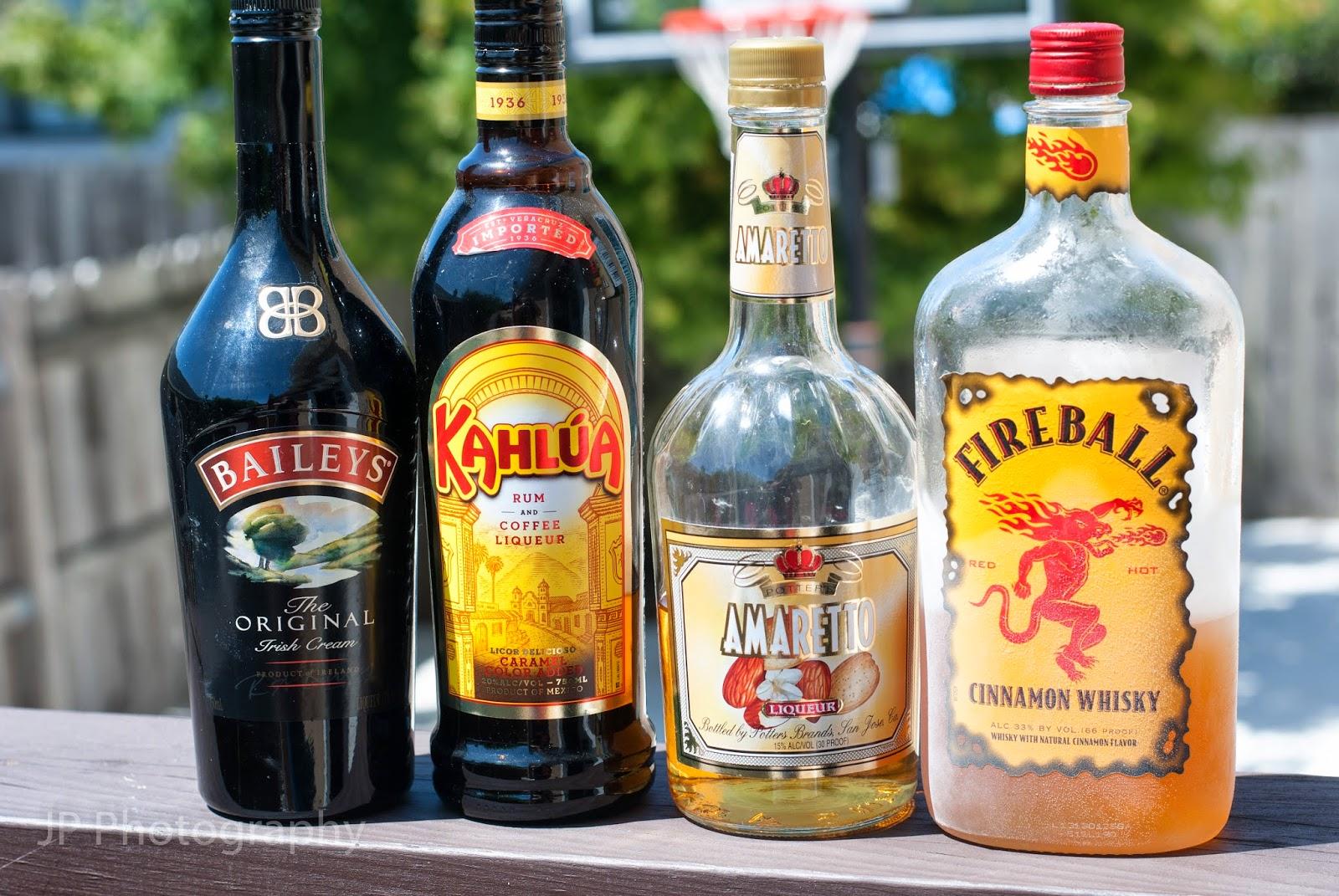 flaming orgasm cocktail, baileys, irish cream liqueur, kahlua, coffee liqueur, fireball whisky, cinnamon whisky, amaretto