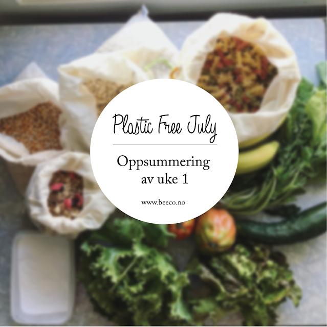 Oppsummering av uke 1 i Plastic Free July Challenge