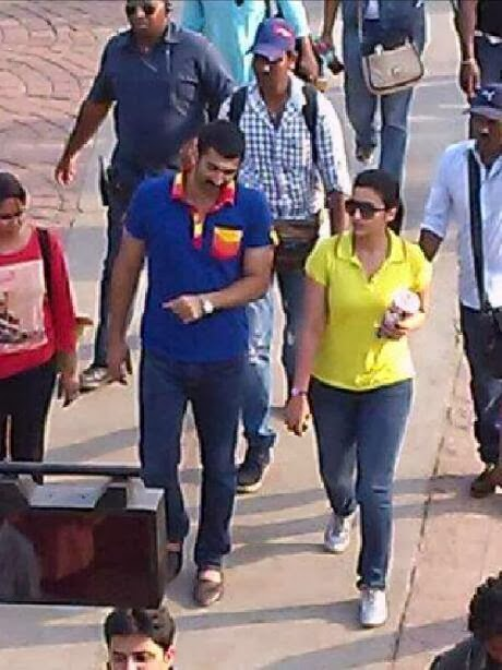Aditya Roy Kapur and Parineeti Chopra are spotted on the sets of 'Daawat-e-Ishq'
