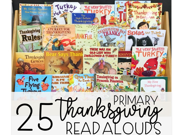 Thanksgiving Read Alouds First Grade Made