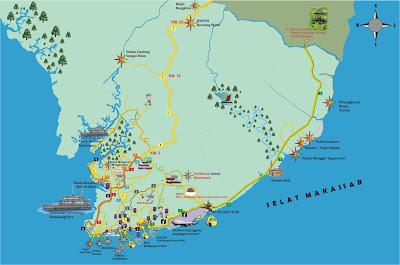 Peta Wisata Balikpapan