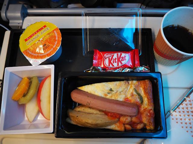 往路の朝食