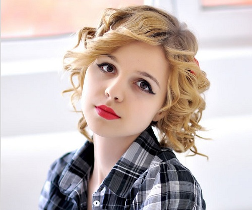 Loli Videos: Stylish Short Curly Hairstyles For Girls