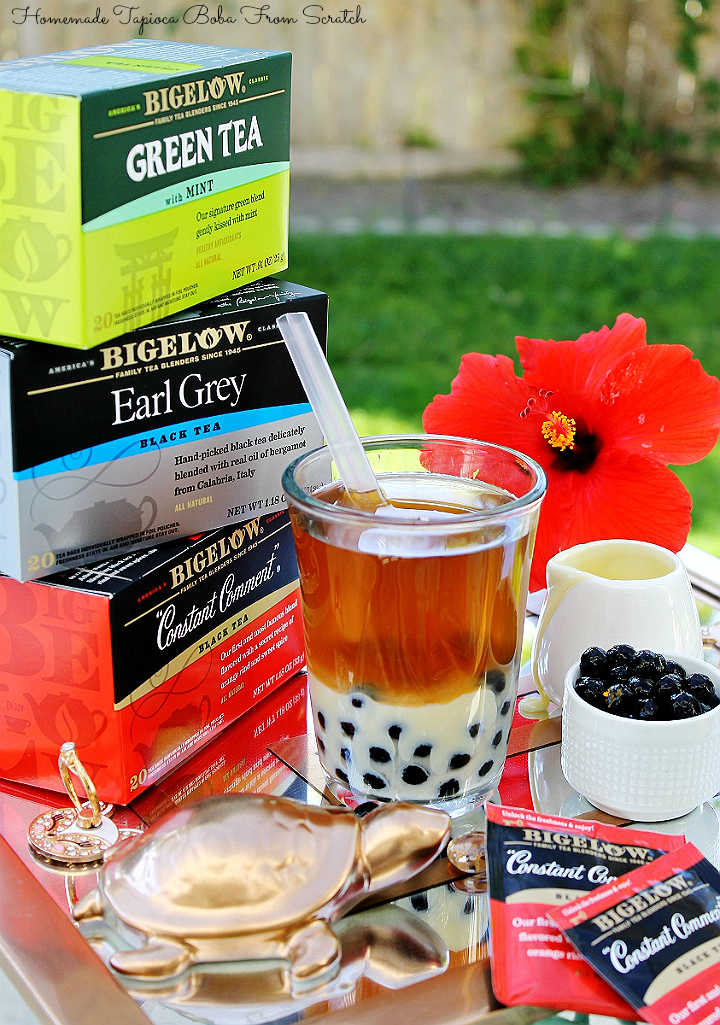 Enjoy homemade tapioca pearls in your tea with this simple tutorial! #TeaProudly with Bigelow teas at Walmart. #AD